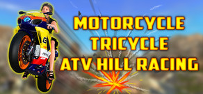 Motorcycle, tricycle, ATV hill racing cover art
