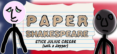Paper Shakespeare: Stick Julius Caesar (with a dagger)