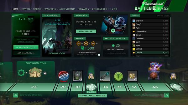 скриншот The International 2018 Battle Pass 1