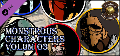 Fantasy Grounds - Monstrous Characters, Volume 3 (Token Pack)
