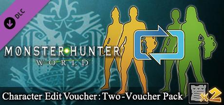 Monster Hunter: World - Character Edit Voucher: Two-Voucher Pack