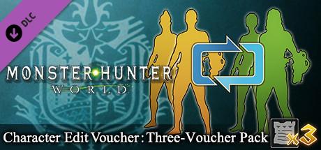 Monster Hunter: World - Character Edit Voucher: Three-Voucher Pack