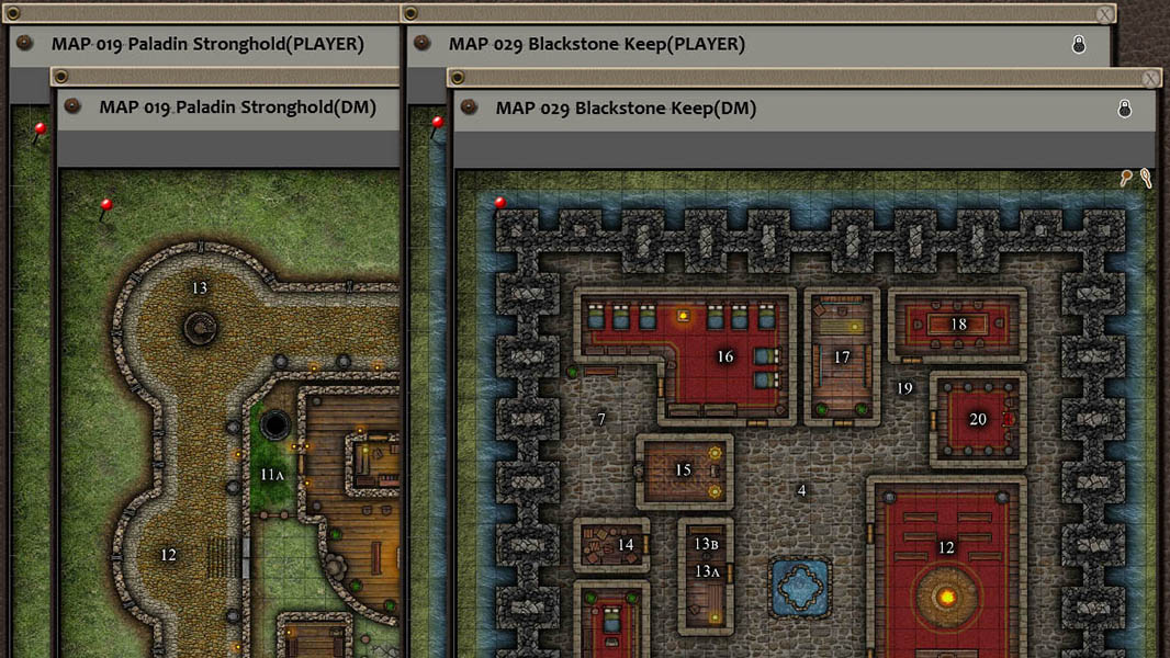 Fantasy Grounds - Paths to Adventure: Castles and Strongholds (Map Packs)