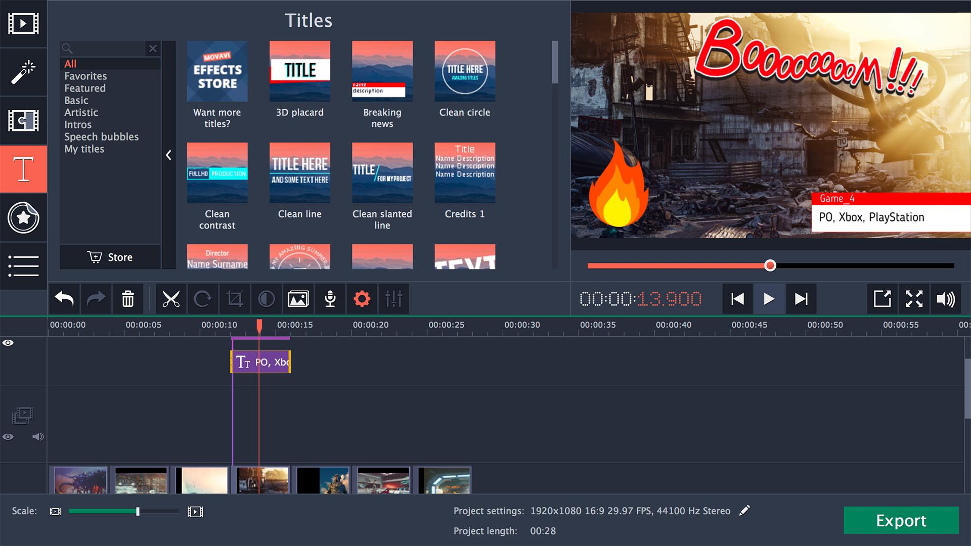 movavi video editor 14