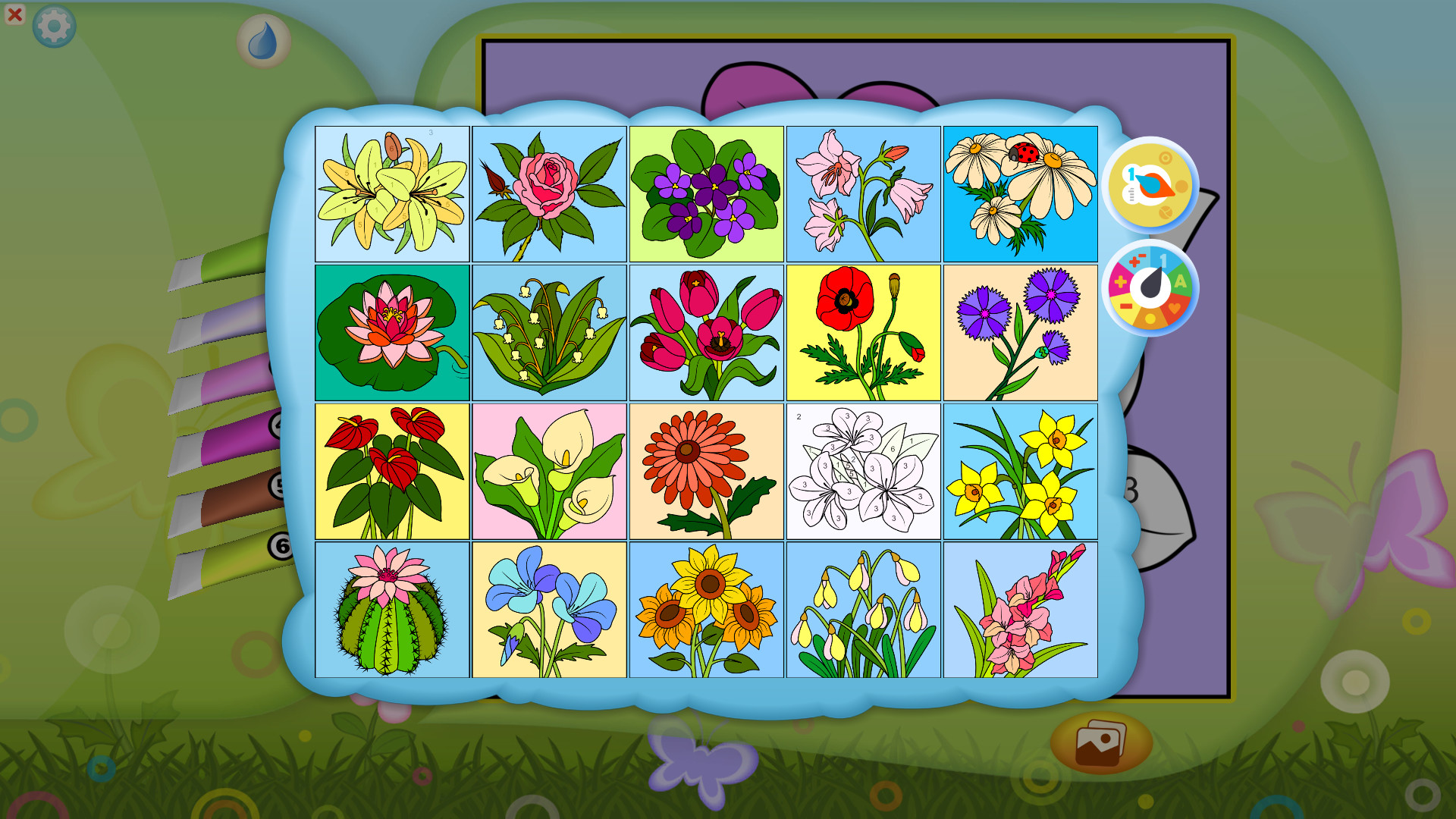 What\'s On Steam - Color by Numbers - Flowers