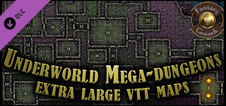 Fantasy Grounds - Paths to Adventure: Underworld Mega-Dungeons (Map Pack)