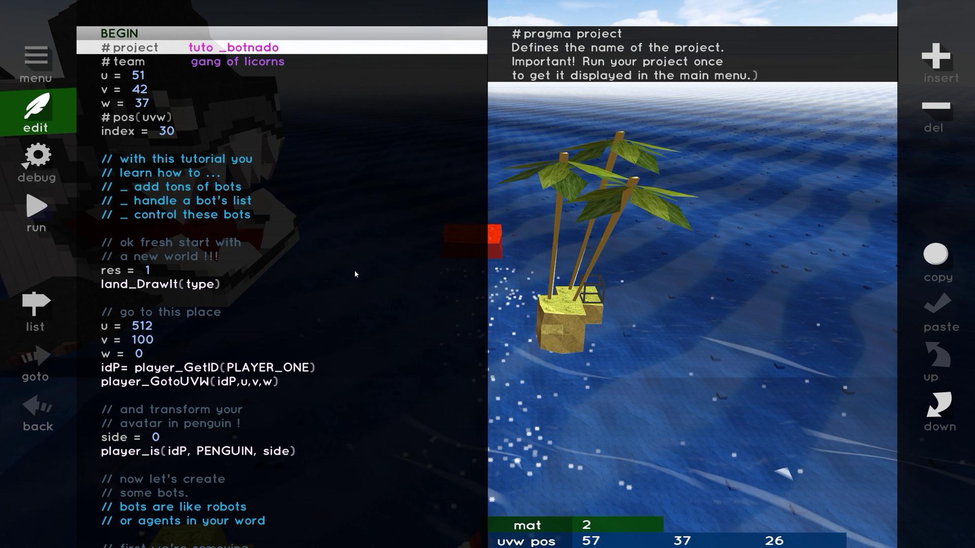 Pop Island - Let's Code !!!