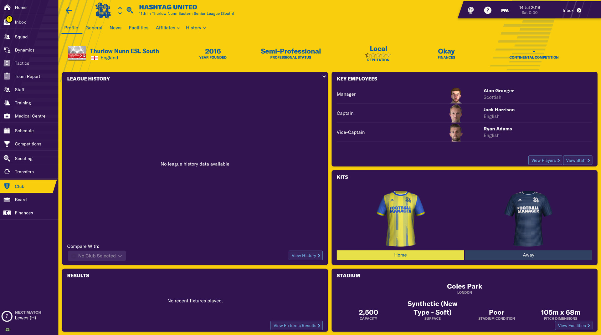 Football Manager 2019: The Hashtag United Challenge on Steam