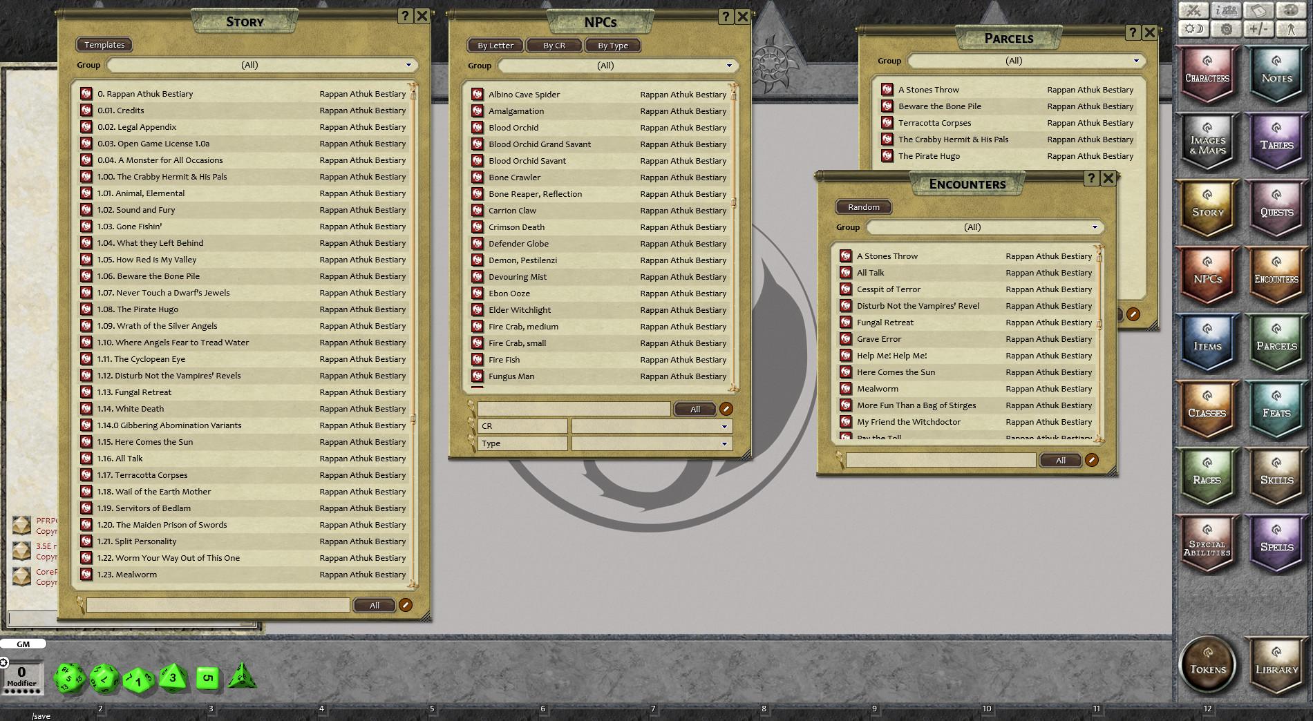 Fantasy Grounds - Rappan Athuk Bestiary (PFRPG)