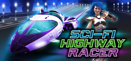 Sci-fi highway racer cover art