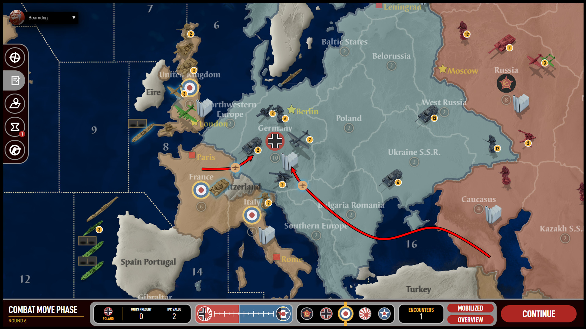 axis  allies online game free
