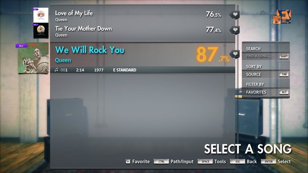 "Скриншот №3 к Rocksmith® 2014 Edition – Remastered – Queen - ""We Will Rock You"""