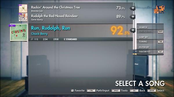 "Скриншот №3 к Rocksmith® 2014 Edition – Remastered – Chuck Berry - ""Run, Rudolph, Run"""