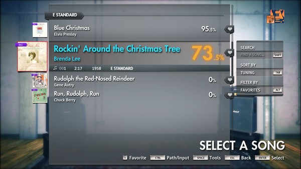 "Скриншот №5 к Rocksmith® 2014 Edition – Remastered – Brenda Lee - ""Rockin' Around the Christmas Tree"""