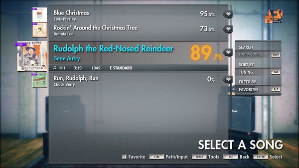 "Скриншот №4 к Rocksmith® 2014 Edition – Remastered – Gene Autry - ""Rudolph the Red-Nosed Reindeer"""