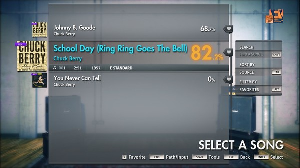 """Скриншот №5 к Rocksmith® 2014 Edition – Remastered – Chuck Berry - """"School Day Ring Ring Goes The Bell"""""""