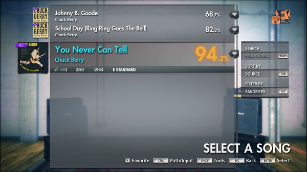 "Скриншот №2 к Rocksmith® 2014 Edition – Remastered – Chuck Berry - ""You Never Can Tell"""