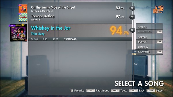"Скриншот №3 к Rocksmith® 2014 Edition – Remastered – Thin Lizzy - ""Whiskey in the Jar"""