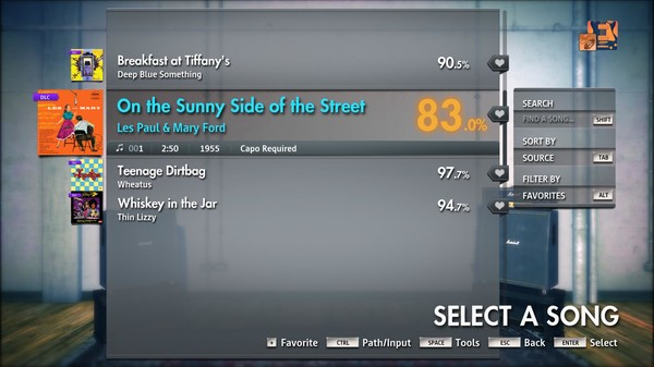 """Скриншот №2 к Rocksmith® 2014 Edition – Remastered – Les Paul  Mary Ford - """"On the Sunny Side of the Street"""""""