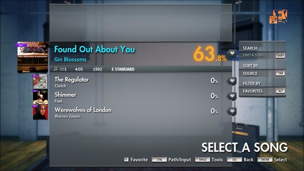 "Скриншот №2 к Rocksmith® 2014 Edition – Remastered – Gin Blossoms - ""Found Out About You"""