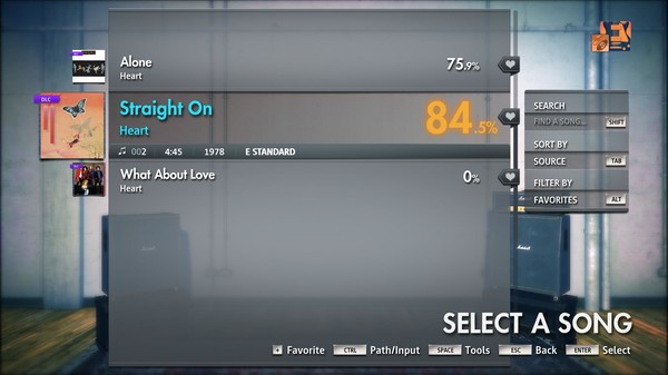 "Скриншот №2 к Rocksmith® 2014 Edition – Remastered – Heart - ""Straight On"""