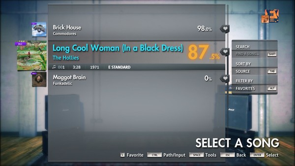 """Скриншот №3 к Rocksmith® 2014 Edition – Remastered – The Hollies - """"Long Cool Woman In a Black Dress"""""""