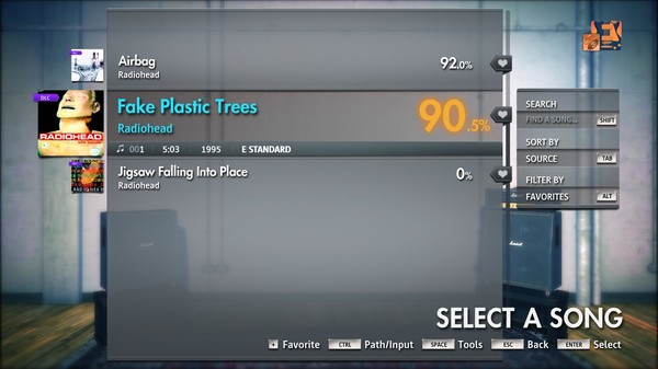 "Скриншот №2 к Rocksmith® 2014 Edition – Remastered – Radiohead - ""Fake Plastic Trees"""