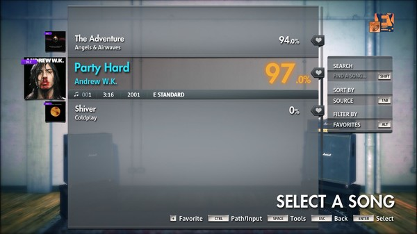 "Скриншот №5 к Rocksmith® 2014 Edition – Remastered – Andrew W.K.- ""Party Hard"""