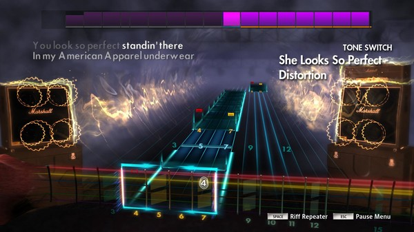 """Скриншот №2 к Rocksmith® 2014 Edition – Remastered – 5 Seconds of Summer - """"She Looks So Perfect"""""""