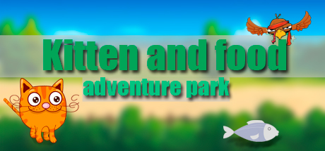 Kitten and food: adventure park