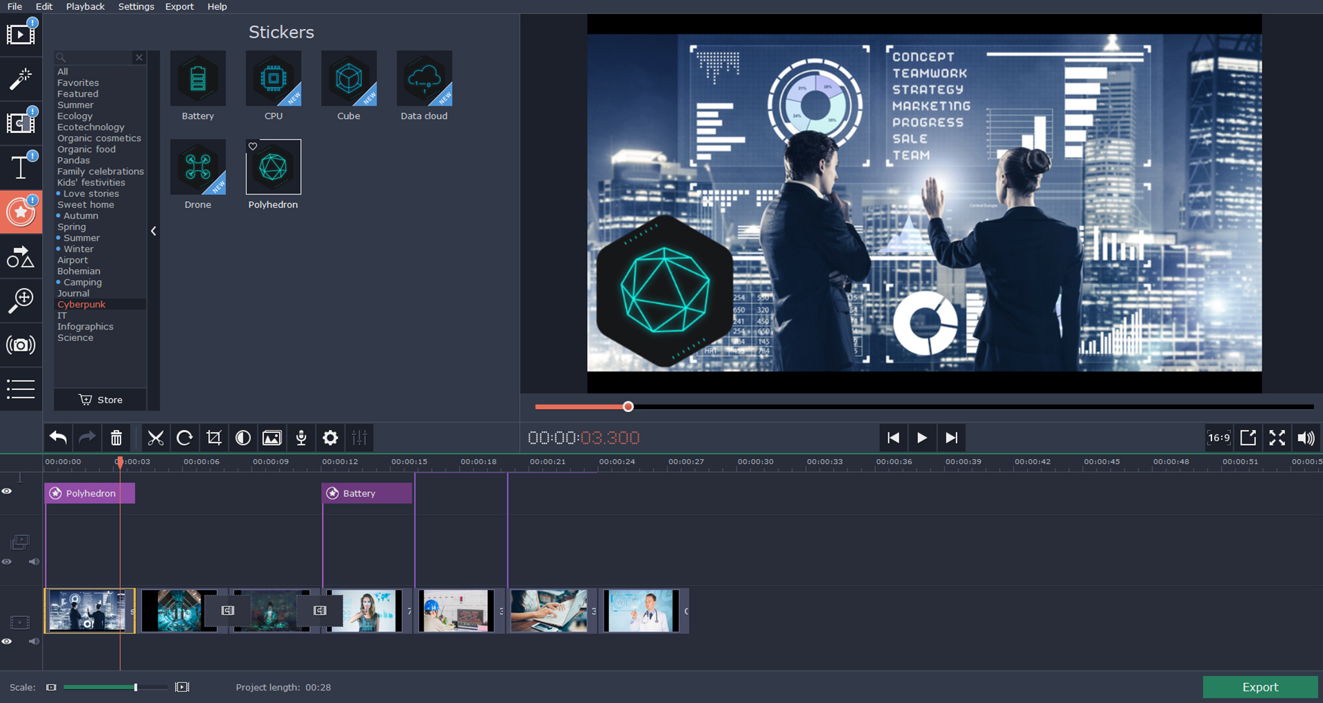 Movavi Video Editor Plus - Technology Set Steam Discovery