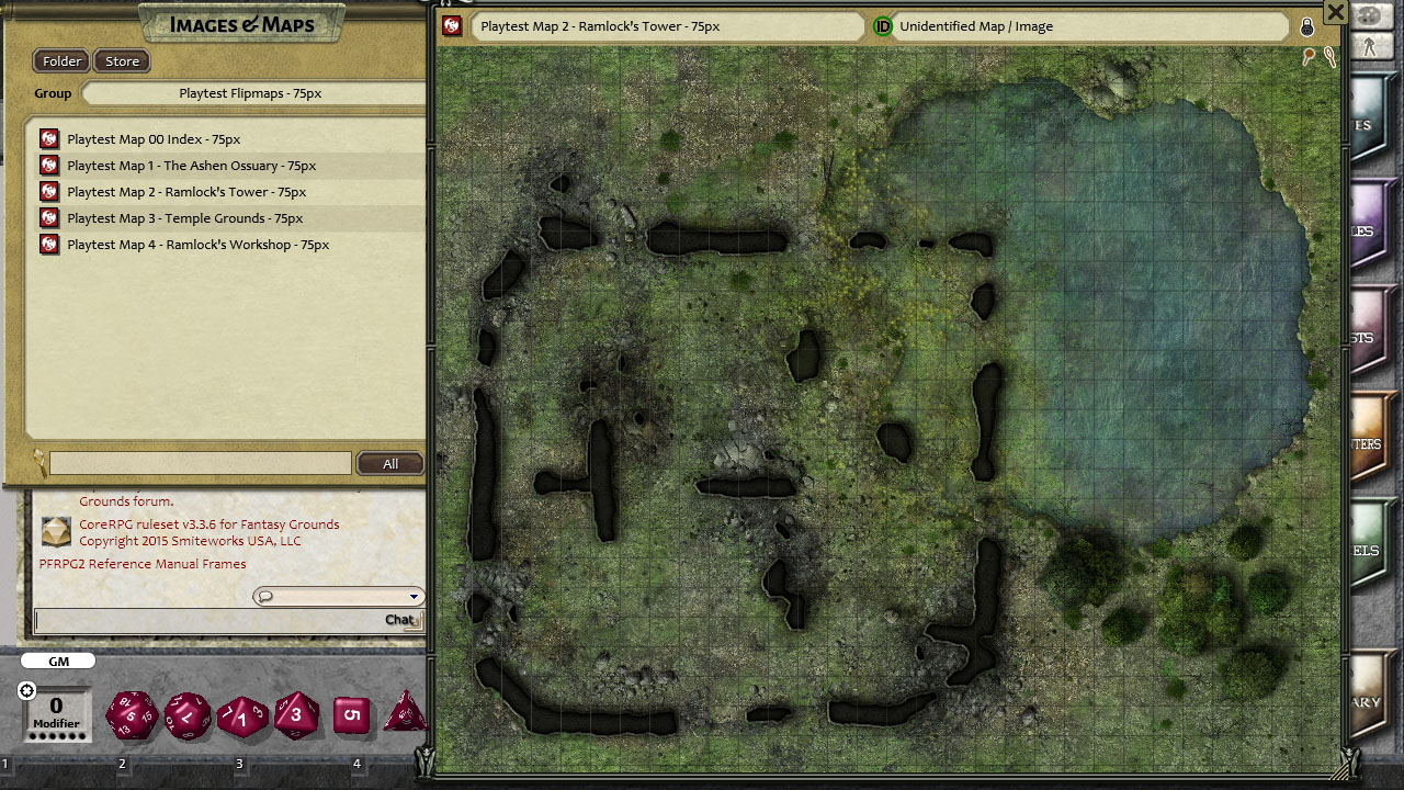 Fantasy Grounds - Pathfinder Playtest Map Pack (PFRPG)