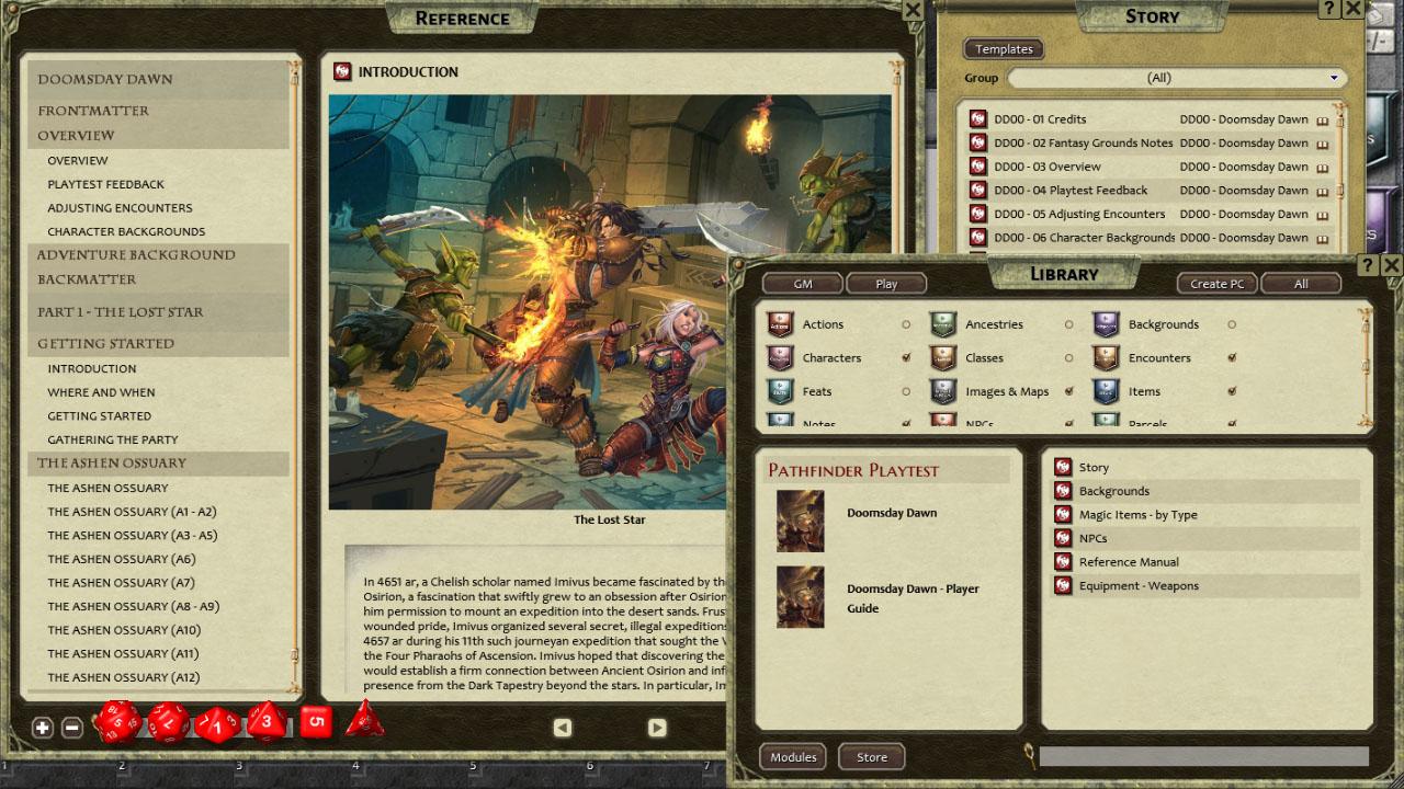 Fantasy Grounds - Pathfinder Playtest Adventure: Doomsday Dawn (PFRPG)
