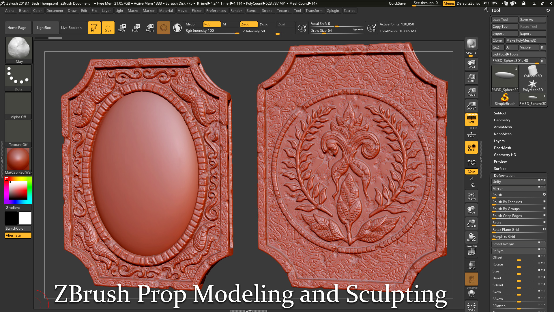 Intro to Prop Sculpting and Texturing