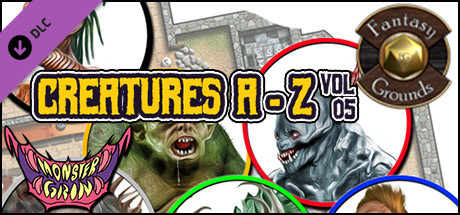 Fantasy Grounds - Creatures A-Z, Volume 5 (Token Pack)