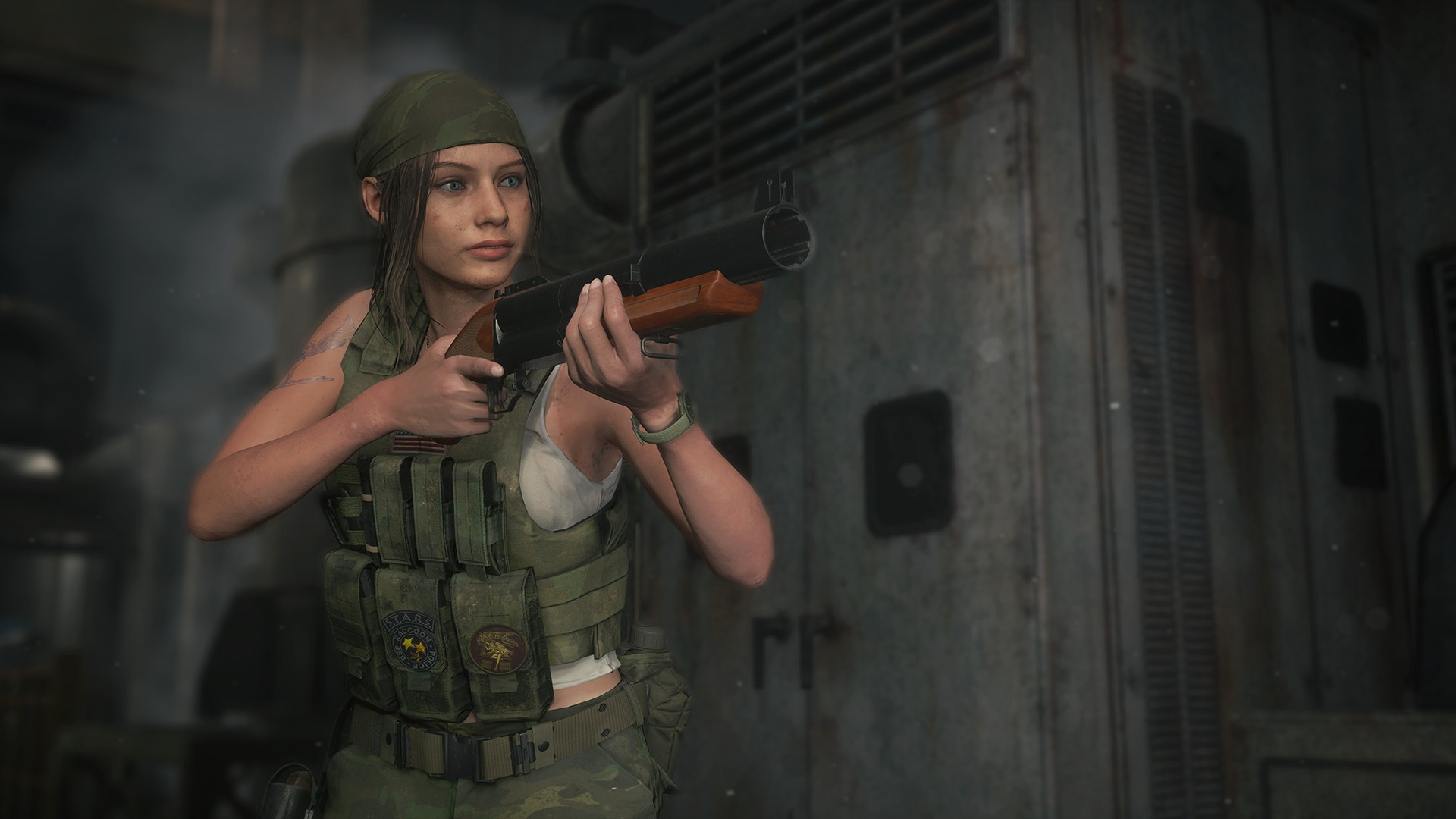 Resident Evil 2 Claire Costume Military