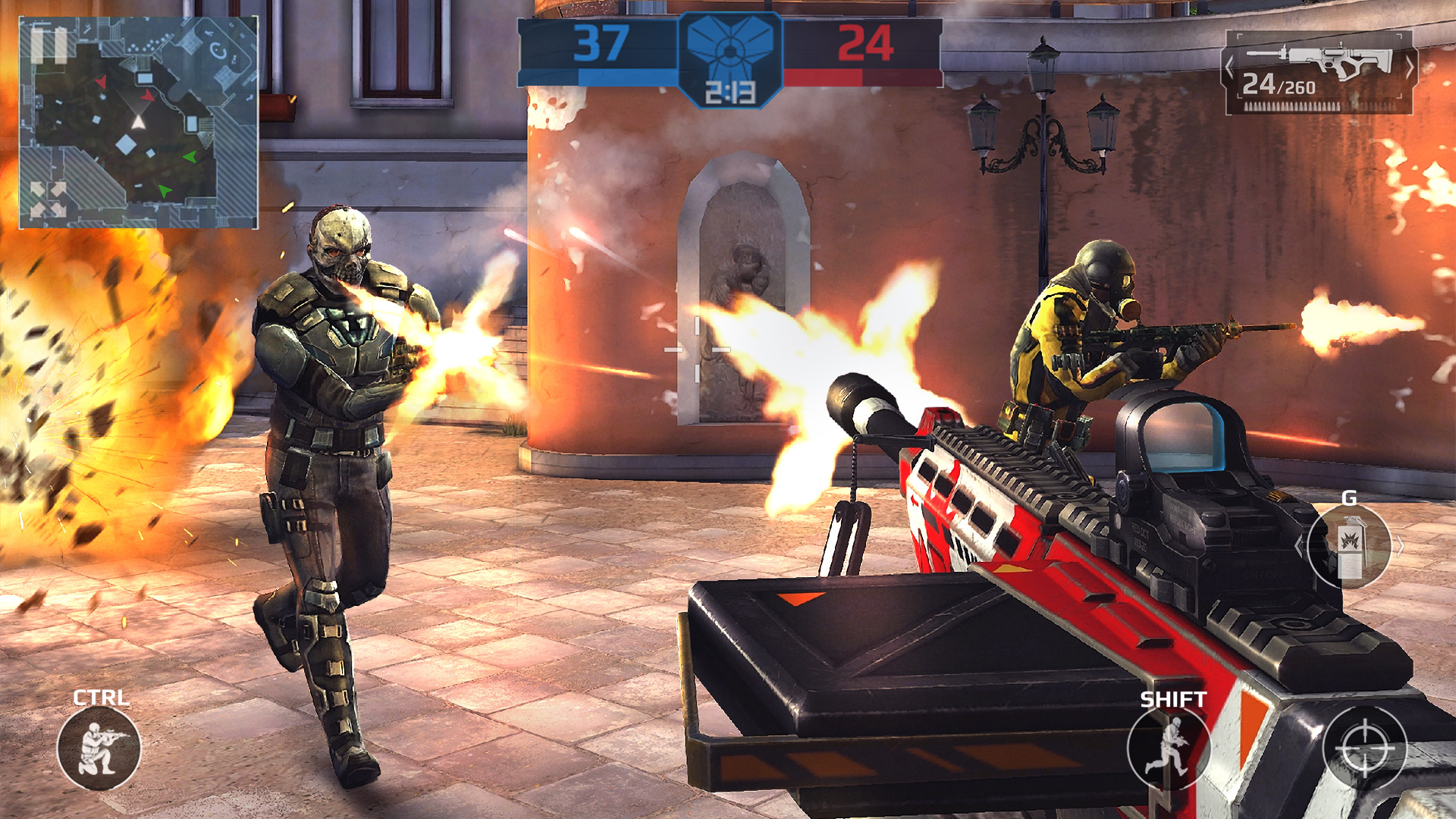 descargar modern combat 5 apk full español gratis