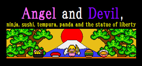 Teaser image for Angel and Devil,ninja,sushi,tempura,panda and the statue of liverty