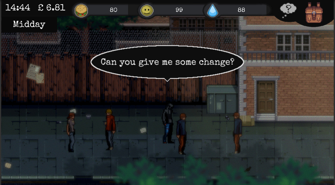 CHANGE: A Homeless Survival Experience [Early Access] [2018|Eng]