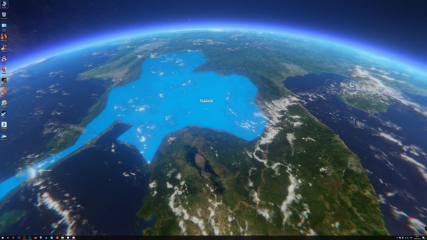 Скриншот из 3D Earth Time Lapse PC Live Wallpaper