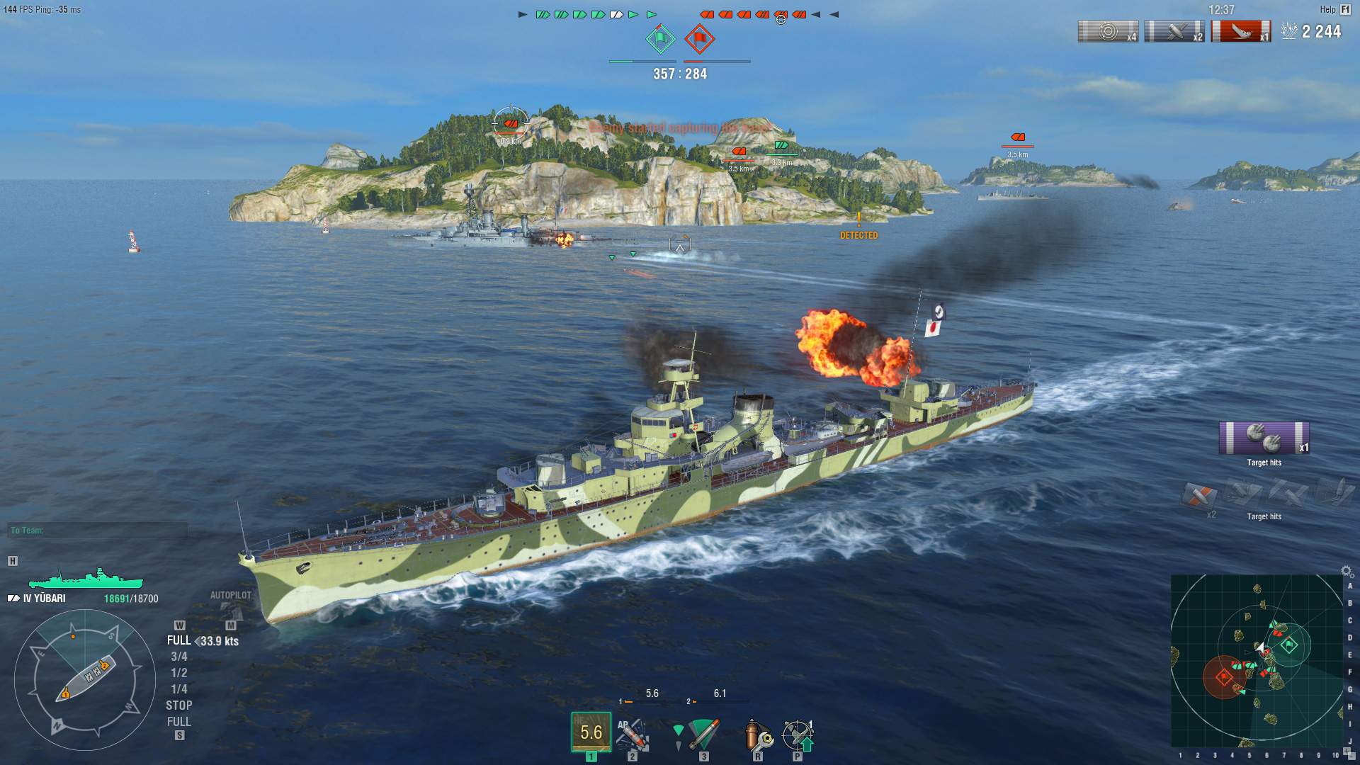 World of Warships: Yubari Steam Edition 2018 pc game Img-4