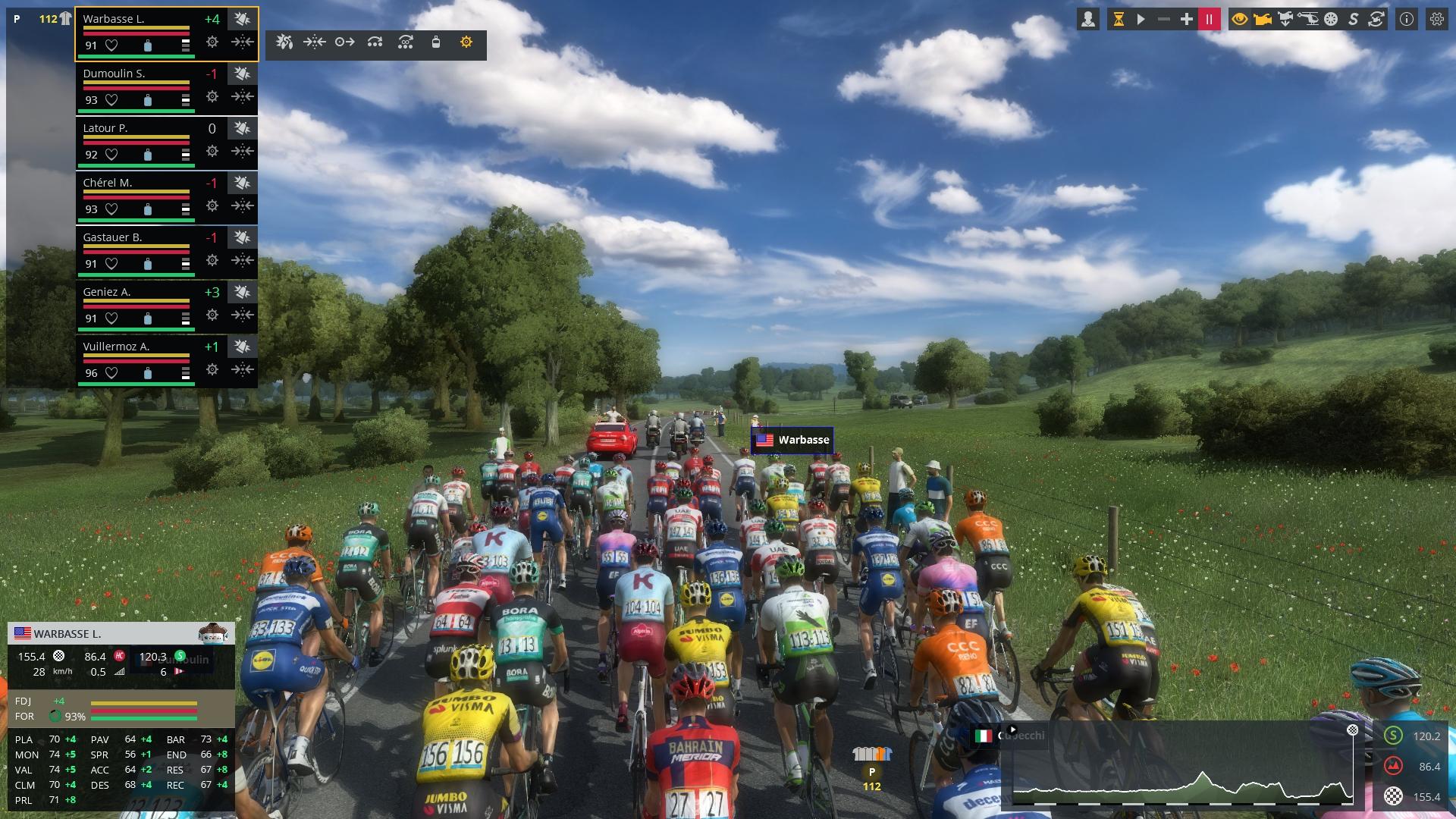 Скриншот Pro Cycling Manager 2019 v1.0.2.3 + WorldDB Mod v0.2 скачать торрент бесплатно