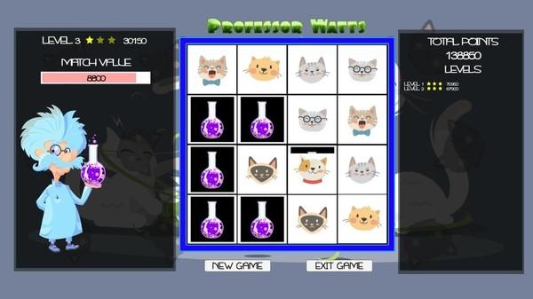 Скриншот из Professor Watts Memory Match: Cats
