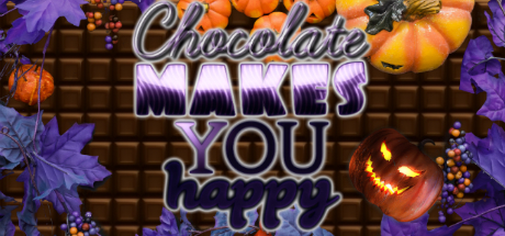 Chocolate makes you happy: Halloween cover art