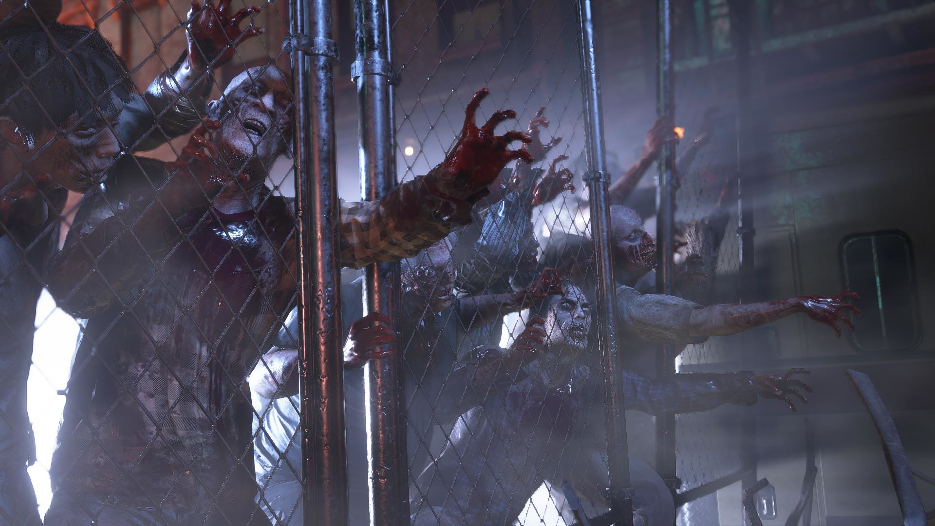 T-Virus infected zombies in the Resident Evil 3 remake