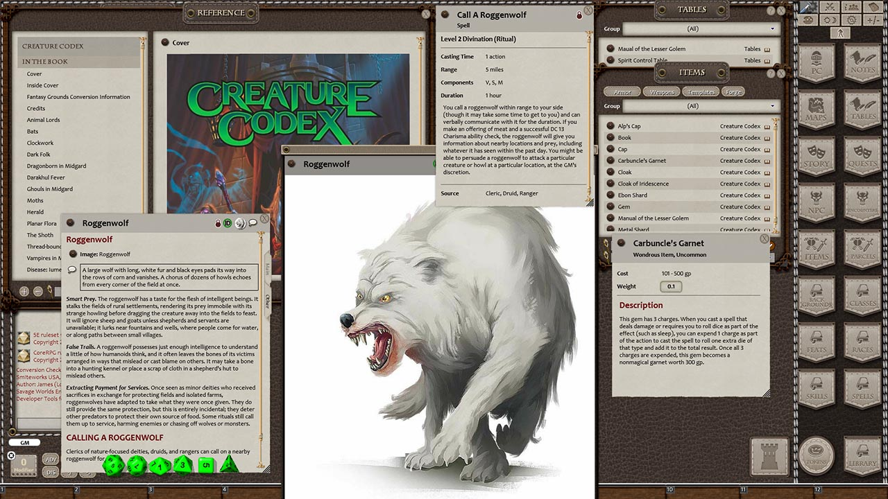 Fantasy Grounds - Creature Codex (5E)