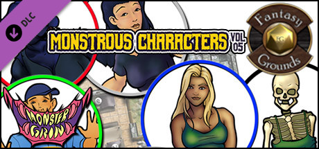 Fantasy Grounds - Monstrous Characters, Volume 5 (Token Pack)