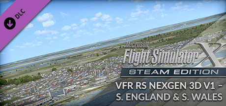 FSX Steam Edition: VFR Real Scenery NexGen 3D - Vol. 1: Southern England and South Wales Add-On