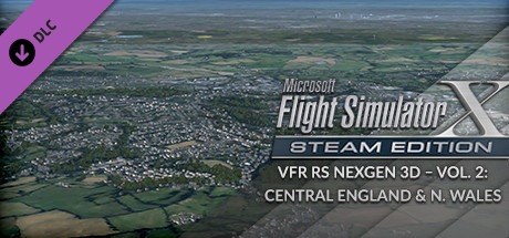 FSX Steam Edition: VFR Real Scenery NexGen 3D - Vol. 2: Central England and North Wales Add-On
