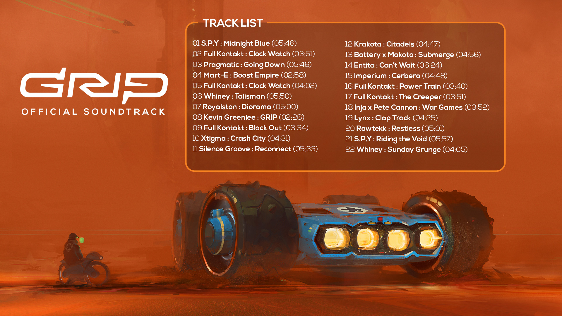 GRIP  Combat Racing - Official Soundtrack on Steam 34a5b1a6c97